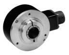 844D Hollow Shaft Incremental Encoders, Front (Hollow-Shaft), 1/2 Inch, Tether, 3/8 in. bolt on a 5.88 in. dia. B.C. (to fit 4.5 in. NEMA C face), 10 Pin Connector, 5-26V DC In, 5-26V DC DLD Out (7272), 1024 Pulses Per Revolution