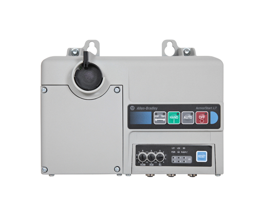Bulletin 290 - Full Voltage Starter, EtherNet/IP Communications, IP66, UL Type 4/12 Enclosure for 290/291/294,1.1-7.6 A Overload Relay, 24V DC Separate Control Power, Conduit entry for power and motor gland plate option