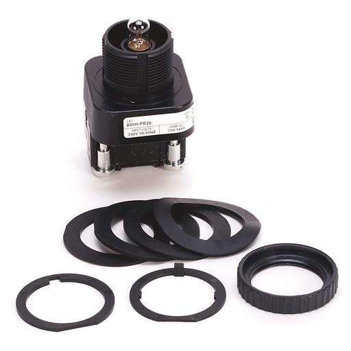30.5mm Type 4/4X/13 Pilot Light, Xfmr, No Test Option, Incand., No Lens, 240V AC 50/60 Hz