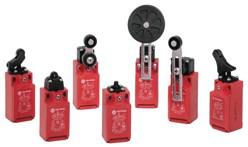 Safety Limit Switch, 22mm Plastic, Offset Hinge, 3 N.C., 6-Pin AC Micro QD