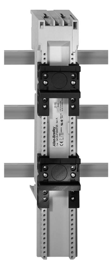 141A MCS Mounting System Adapter Modules, MCS Standard Busbar Module with Terminals, 54mm x 260mm, 63 Amp, 2 Standard Top Hat Rail