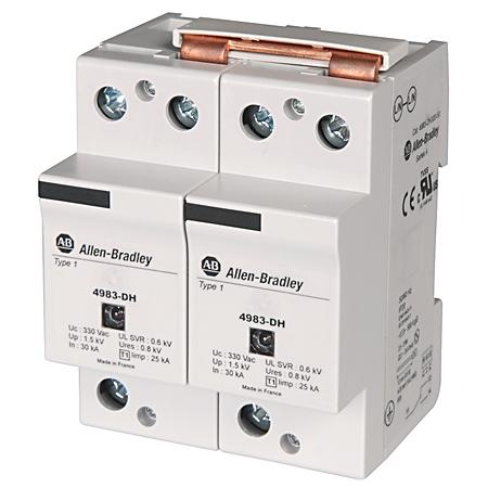 4983 Surge and Filter Protection, Din Rail Mount, Heavy Duty UL 1449, 120V, 25kA, No Pole Configuration