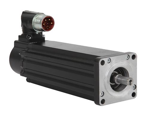 VPL Low Inertia Motors, 480V AC, 75mm Bolt Circle Frame Size, 2 (Two) Magnet Stacks, F Winding, 4500-6600 RPM Rated Speed, 18 bit Single-turn and 12 bit Multi-turn Digital High Resolution Encoder, Keyless Shaft, Single SpeedTec Din Connector, No Holding B