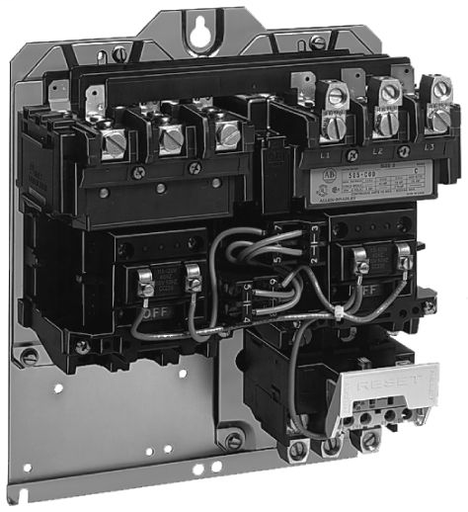 Available from RCC, 505 NEMA Enclosed Reversing Starter, SIZE 1, Type 1 General Purpose Surface Mounting, 230-240V 60Hz, with Eutectic Alloy Overload Relay, 115-120V 60Hz, , Transformer, w/2 Prim & 1 Sec Fuse