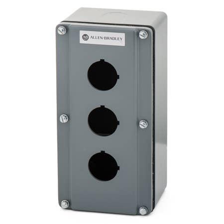 800T and 800H Accessories, Push Button Enclosure,Surface,3 Holes,Type 4/13,No Color, Die Cast