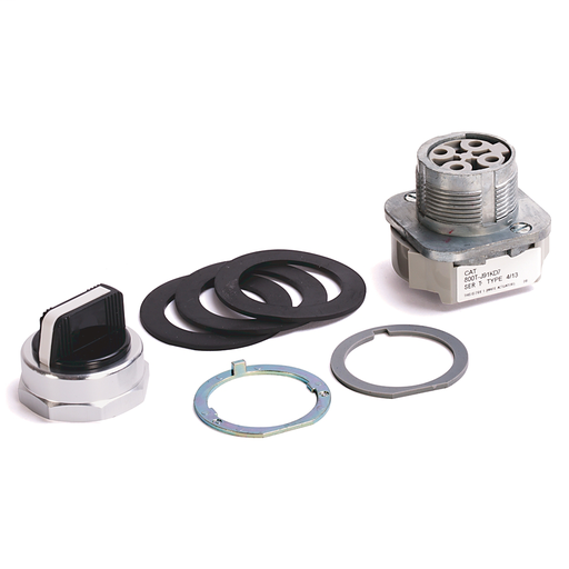 800T 3 Position, Knob/Wing Lever,, White, Std. Knob Spring Rtn fr/ Both, Cam and Contact Blocks, 3 Position