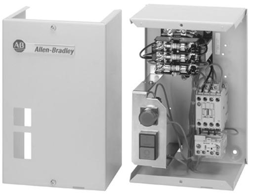 Bulletin 109 - IEC Non-Reversing Starter - Enclosed Style, IP66 (Type 3/4/12 - Metal), 12 Amp, 110V 50Hz / 120V 60Hz
