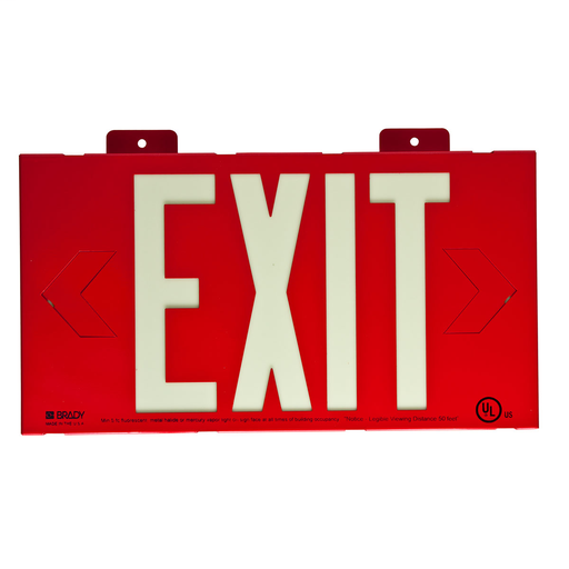 BRADY 90885B RED WALL EXIT SIGN