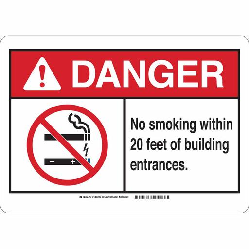 BRADY 143490 10X14 NO SMOKING SIGN