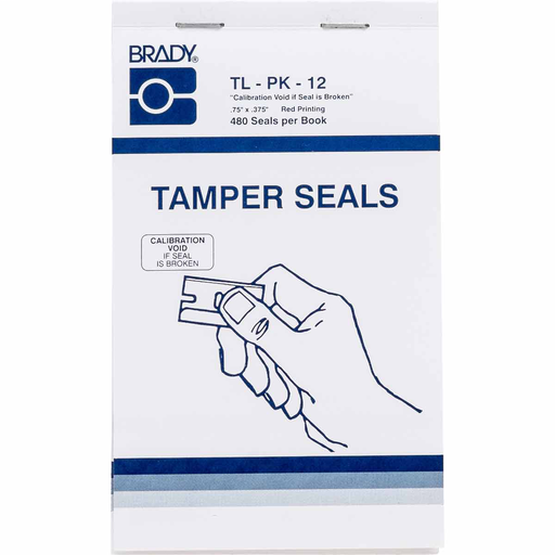 BRADY TL-PK-12 TAMPER SEAL BOOK