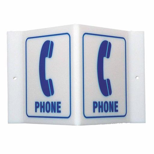 BRADY V1PH02A HI-VSBLT SFTY SGN PHONE