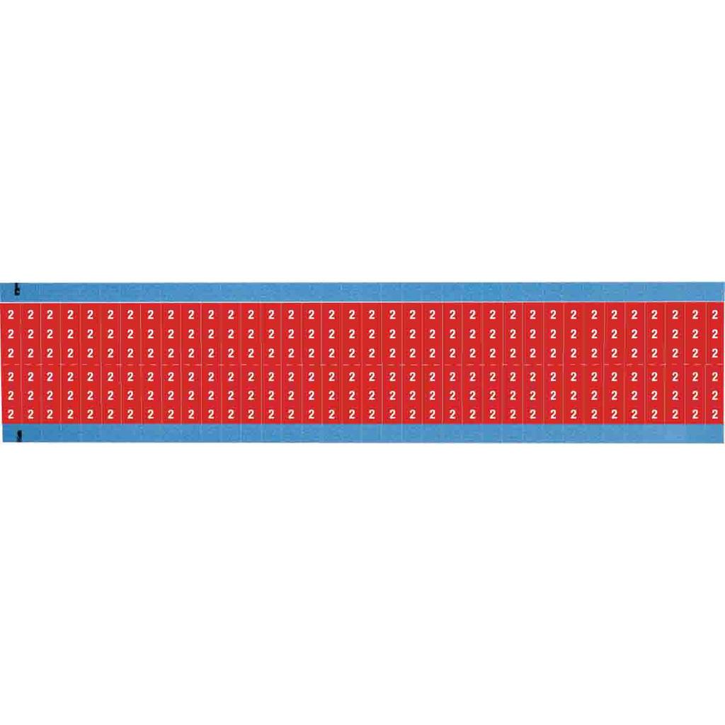 BRDY WM-2-RD-SC-PK SCORED RED BACKGROUND W/Black LETTER Y419531 CENTERSCORED 25 PER BOX