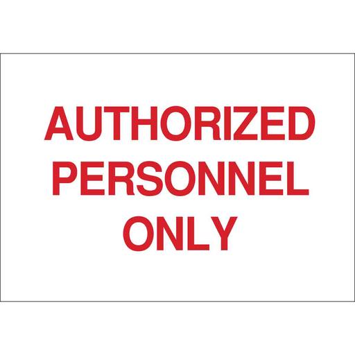 BRADY 84212 7X10 SELF-STICK SIGN SELF STICK SAFETY SIGN RED on WHITE