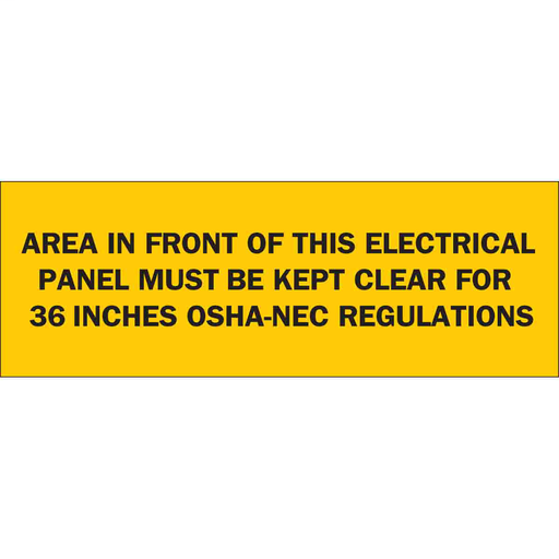 BRADY 84949 SAFETY SIGN  36 INCHES  3-1/2 X 10 (BLK ON YELLOW)