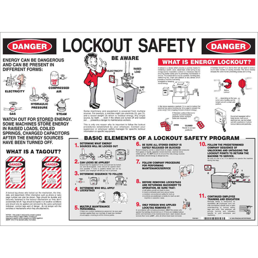 BRADY LOSP8 LOCKOUT SAFETY POSTER
