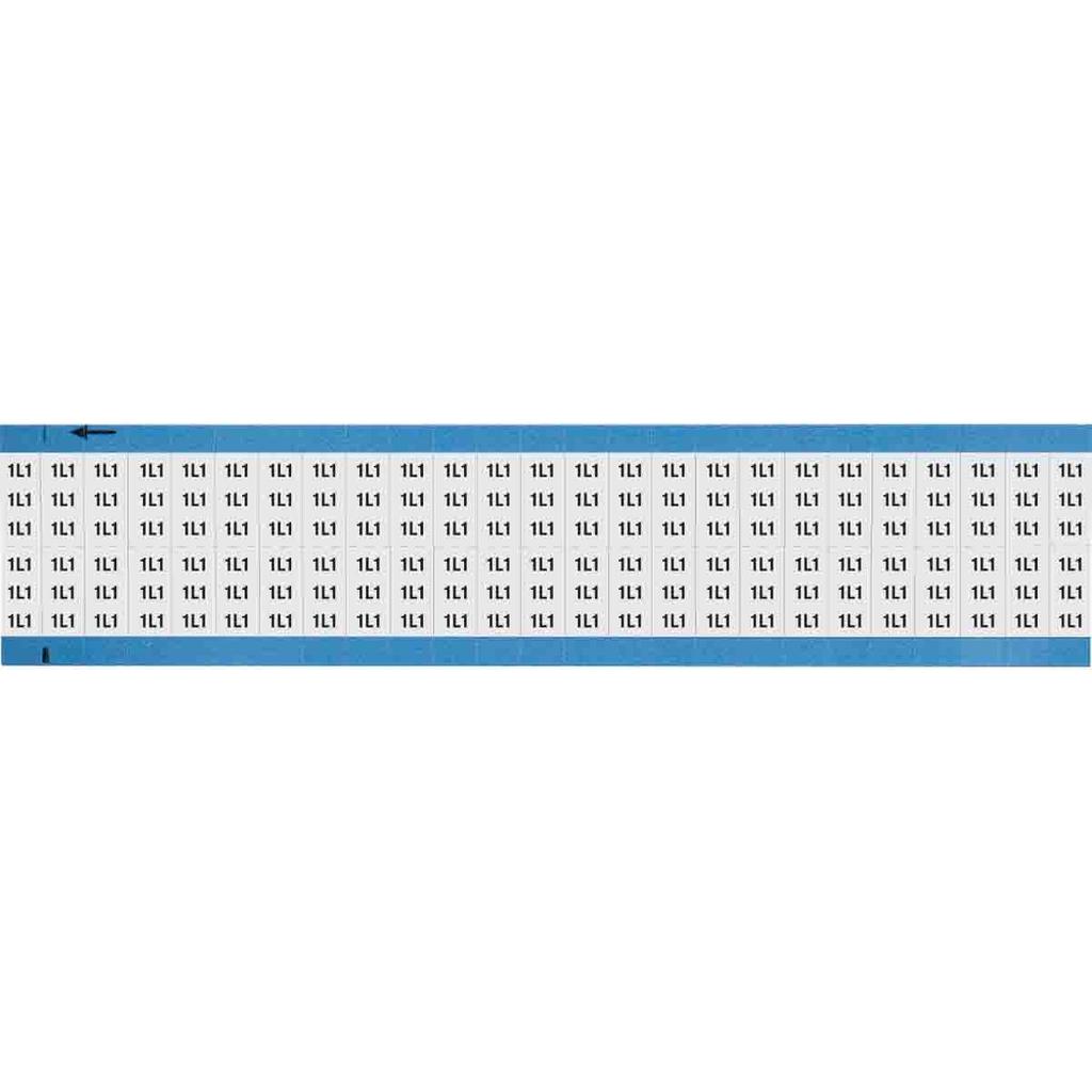 BRDY WM-1L1-SC-PK CENTER SCORED MACHINE TOOL SYMBOL - LEGEND: 1L1