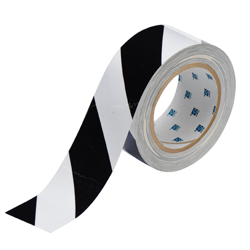 2 IN X 100 FT B514 BK/WT FLOOR TAPE