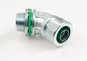 "Bridgeport 450-SLT 1/2"" 45D Connector, Liquidtight, Malleable"