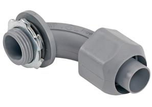 """Bridgeport 470-NMLTS 1/2"""" 90D Screw-on Connector, Non-Metallic"""