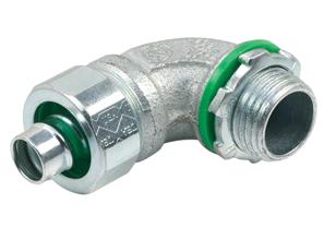 """Bridgeport 470-SLTI 1/2"""" 90D Connector, Liquidtight, Insulated, Steel"""