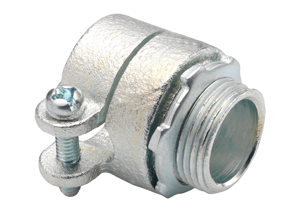 "Bridgeport 412 1-1/4"" FMC Squeeze Connector, Malleable"