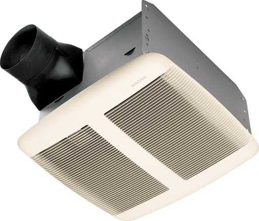 Broan qtr110 110cfm bath fan 1 5 sones 4 in duct - Bathroom exhaust fan duct reducer ...