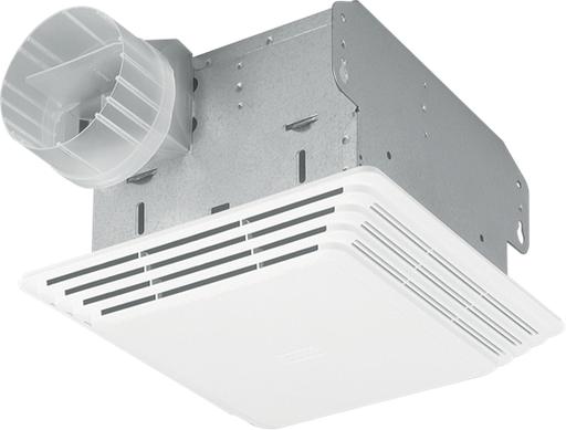 80 CFM Ceiling Mount Fan, White Plastic Grille