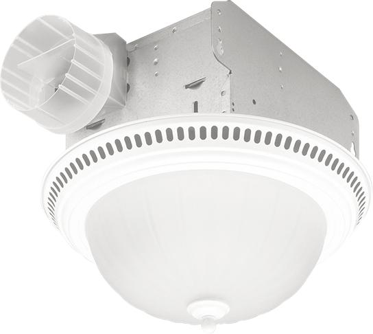 Decorative Fan/Light, White , Glass Globe, 70 CFM