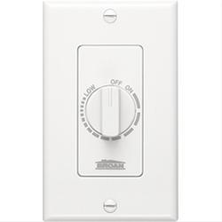 Broan 57W 3 Amp 120 VAC 1-Gang Box White Speed Control Switch