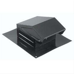 BRO 636 ROOF CAP W/DAMPER & SCREEN DUCT. BLACK.