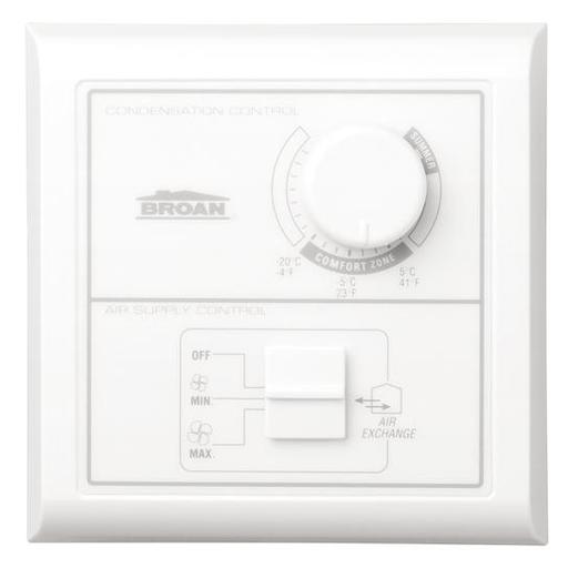 Central Control w/Dehumidistat, Off-low-high rocker switch. Low Voltage