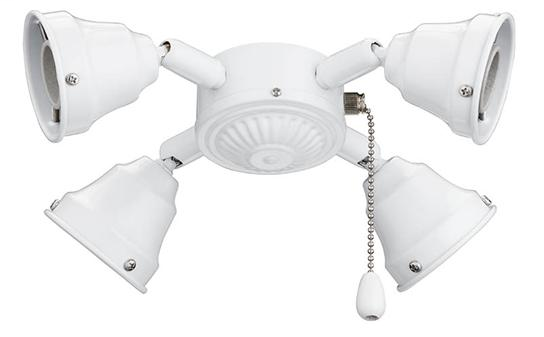 Broan,TF40WH,Turtle Fitter, White. Includes (4) 13W Compact Flourescent Bulbs.