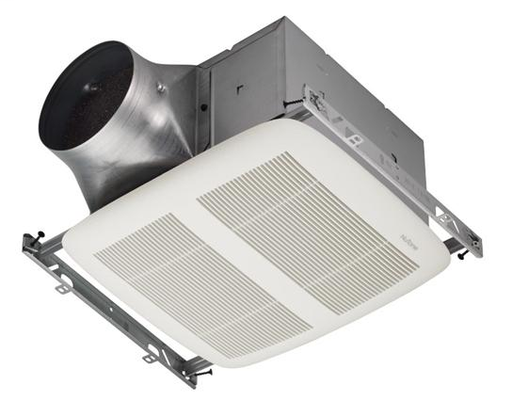 ULTRA GREEN Series 80 CFM Single-Speed Ventilation Fan, with white grille, Recognized as the Most Efficient of ENERGY STAR 2015