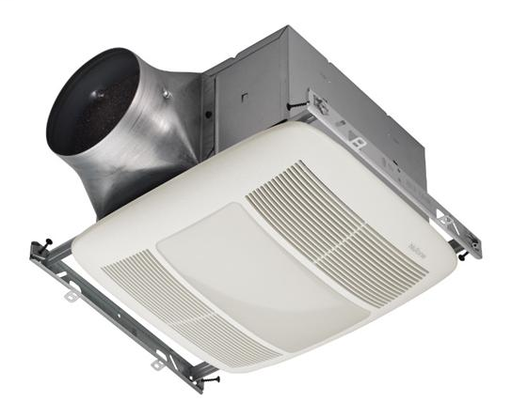ULTRA GREEN Series 80 CFM Multi-Speed Ventilation Fan with Lighting and white grille, Recognized as the Most Efficient of ENERGY STAR 2015