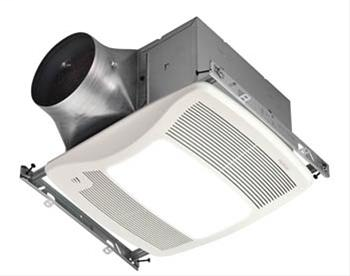 BRO XN110HL 110 CFM, 0.3 SONES, HUMIDITY SENSING FAN W/36W FLUORESCENT LIGHT (2-18 WATT GU24