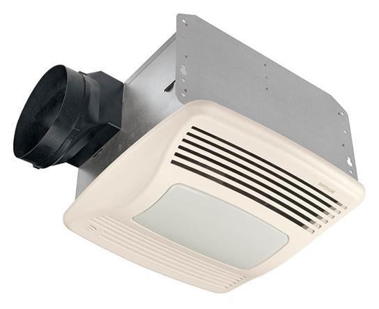 Broan QTXN110SL 1 Amp 110 CFM 0.9 Sones 12-7/8 x 13-3/4 Inch Grille Ventilation Fan with Lamp