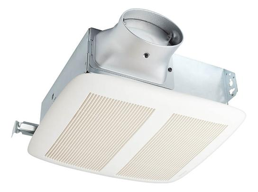 LoProfile 80 CFM Fan, ENERGY STAR Qualified; Ventilation Fan with White Grille