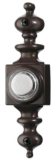 Lighted Dimensional Pushbutton, 1-1/8w x 4-3/16h in Oil-Rubbed Bronze