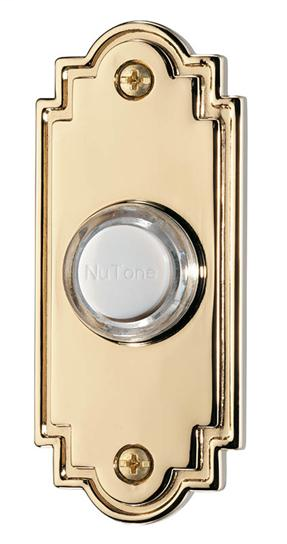 BRO PB15LPB PUSHBUTTON, LIGHTED IN POLISHED BRASS