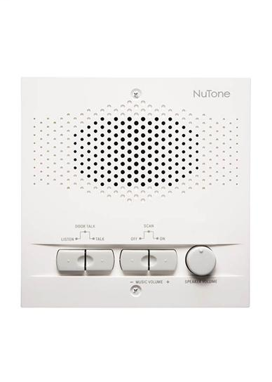 Indoor Remote Station for 4-wire intercom systems, 5-1/2w x 5-1/2h x 1-7/16d, Projects 1-1/4 from wall in White