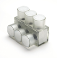 Aluminum Multiple Tap Connector, Clear Insulated, 3 Port, 1 Sided Entry, 10 AWG-350 kcmil, Al/Cu Rated.