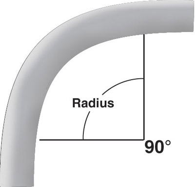 PVC 5133873 1-1/2 24RAD 90D ELBOW