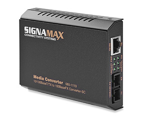 10/100BaseT/TX to 100BaseFX Media Converter ST/MM, 2 km Span