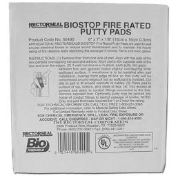 "CULLY 96230 Firestop Putty Pad, 6"" x 7"" x 1/8"""