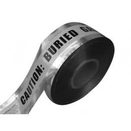 "CULLY 94635 Underground Detectable Tape ""BURIED ELECTRICAL LINE"", Silver w/ Red Stripes, 3"" x 1000'"
