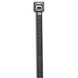 "CULLY 22218 11"" 50lb UV Black Cable Tie (100/Bag)"