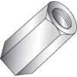 CULLY 59604J 1/4-20 x 7/16 x 3/4 Hex Rod Coupling, Zinc (100/Jar)