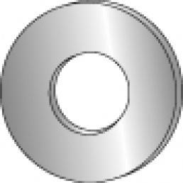 CULLY 40315J #10 Flat Cut Washer, Zinc Plated (100/Jar)