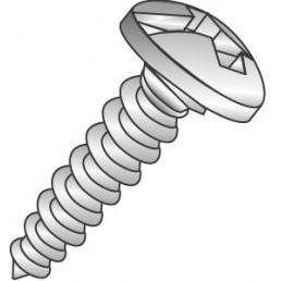 CULLY 19013J 10x3/4 Pan Head Sheet Metal Screw, Phil/Slot, Zinc (100/Jar)