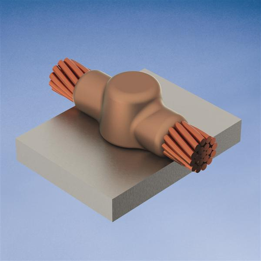 CAD HCA1T MOLD,CABLE TO HORZ STL,HORZ THRU ON SURFACE